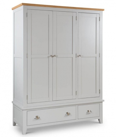 Richmond Soft Grey 3 Door Combination Wardrobe